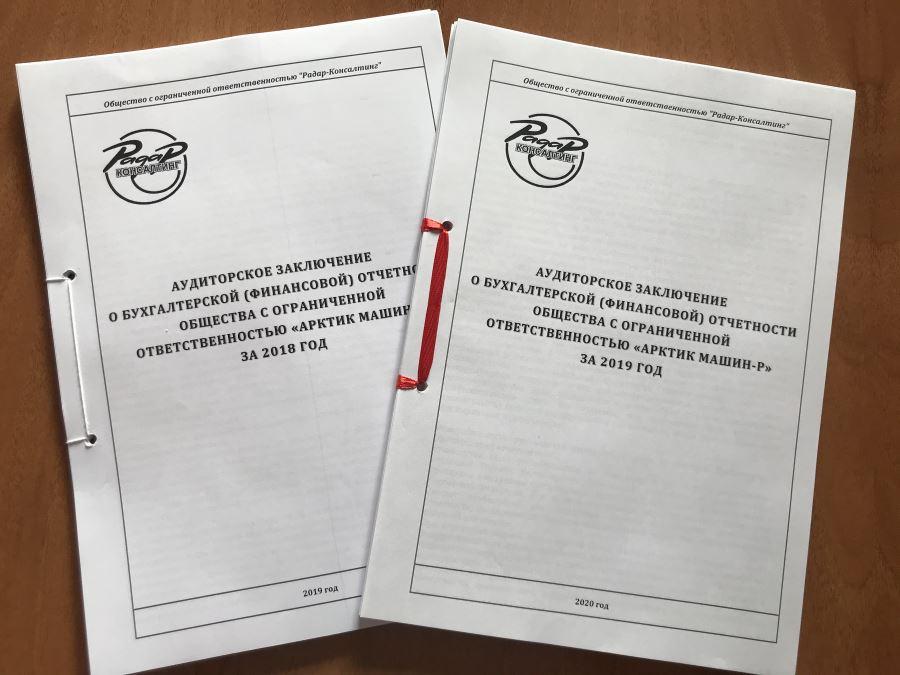 Аудиторское заключение для ООО «Артик-Машин-Р»